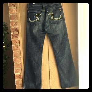 Rock & Republic Flare Jeans Yellow Stitch 30